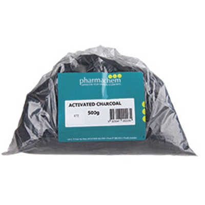 Pharmachem Activated Carbon Charcoal Reduce Toxicity 500g