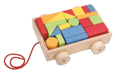 Tooky Toy PULL-A-L BLOCK CART