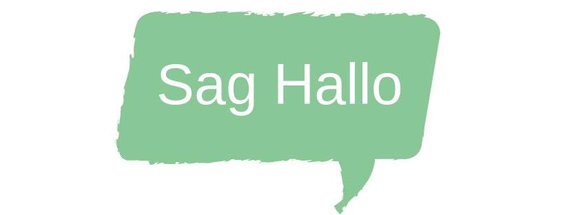 Sprechblase Sag Hallo - Kontakt zu weddista