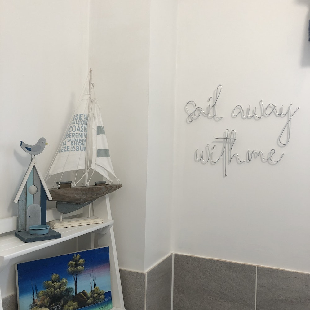 """Wired Mama """"sail Away With Me"""" Wall Mounted Three Dimensional Typography"""
