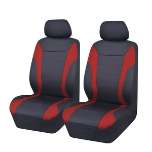Universal Ultra Light Neoprene Front Seat Covers Size 30/35 | Black/Red