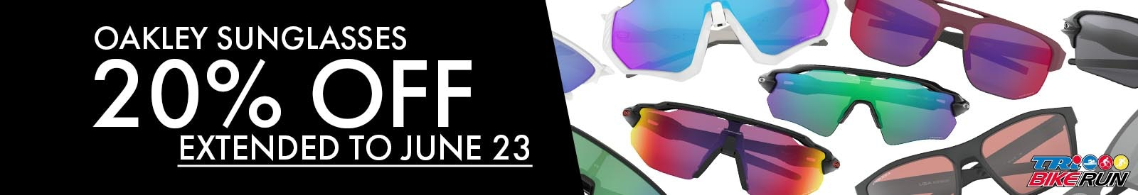 sunglasses sale 20% off till june 16 tri bike run