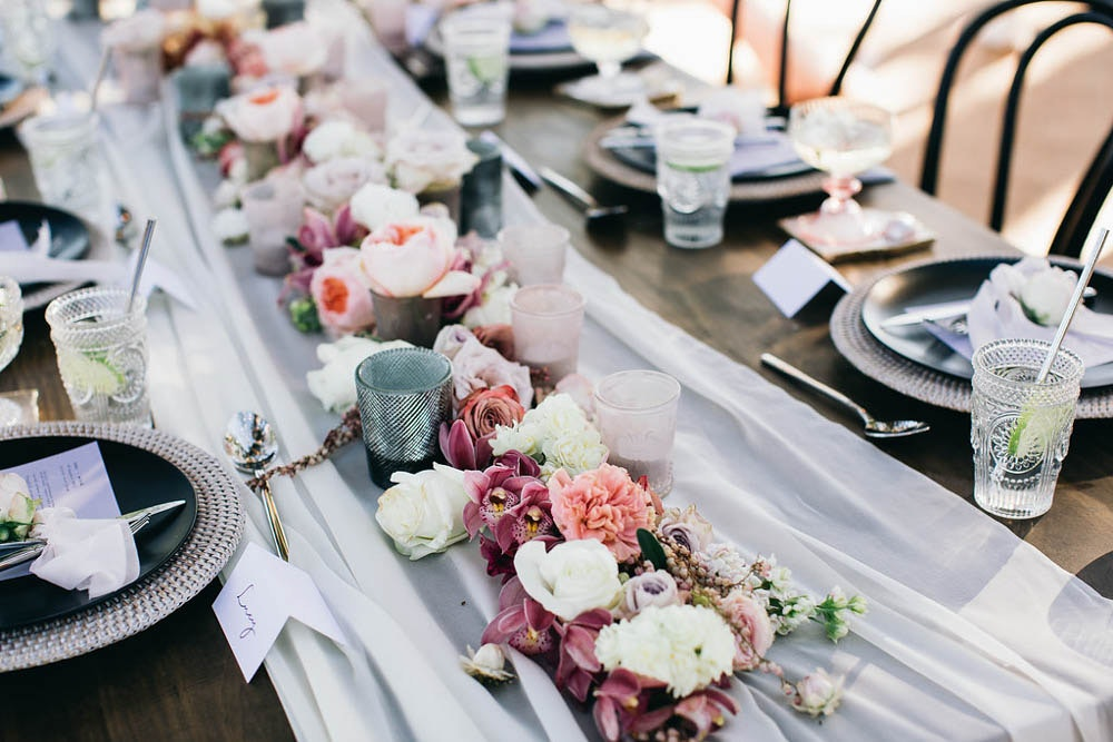 Party with LENZO wedding table setting Byron