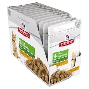 Hills Science Diet Kitten Healthy Development Chicken 12 x 85g