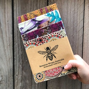 Bread Lovers Pack Beeswax Wraps (1S, 1M, 1L, 1XL)