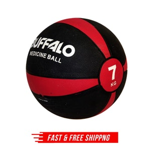 7kg Rubber Medicine Ball Weight Home Sports Gym Workout Exercise