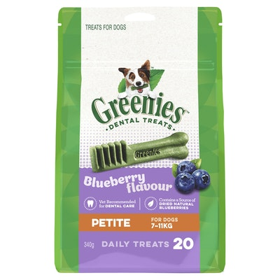 Greenies Blueberry Petite Dental Chews Dog Treats 340G