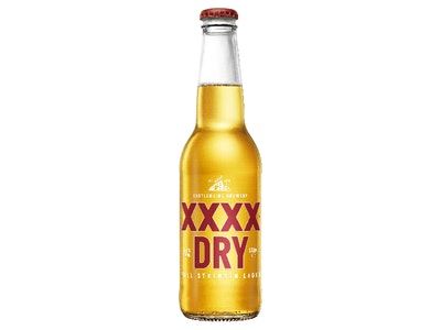XXXX Dry Lager Bottle 330mL