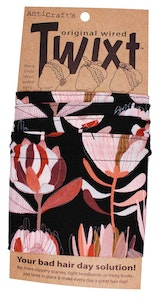 Protea Flowers on Black - Twixt / Wired Head Wrap