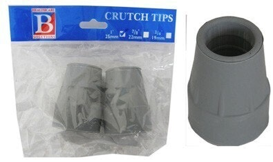 "Bemed Crutch Tips Grey 1""25mm"