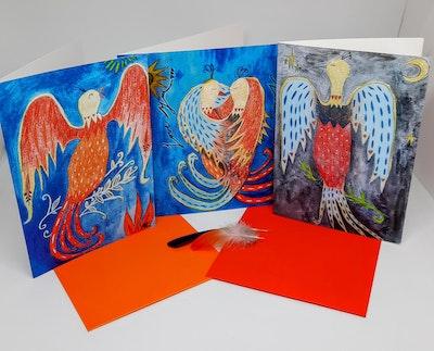 Diilhami Art Firebird Love 3 card pack