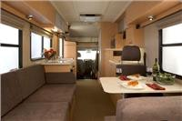 Dinner is served aboard our NZ motorhome  GoSeeNZ pic