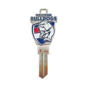 Creative Keys AFL Team Logo Key Blank LW4 - Western Bulldogs