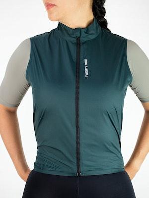 Twenty One Cycling Factory Wind Vest - DarkGreen - Women