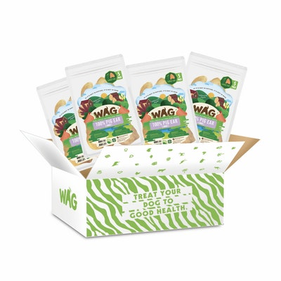 WAG 4 x Pig Ears Large (5 Pack)