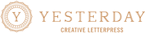 Yesterday Creative — Letterpress Invitations