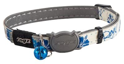 Rogz Glowcat Safeloc Collar Blue Floral