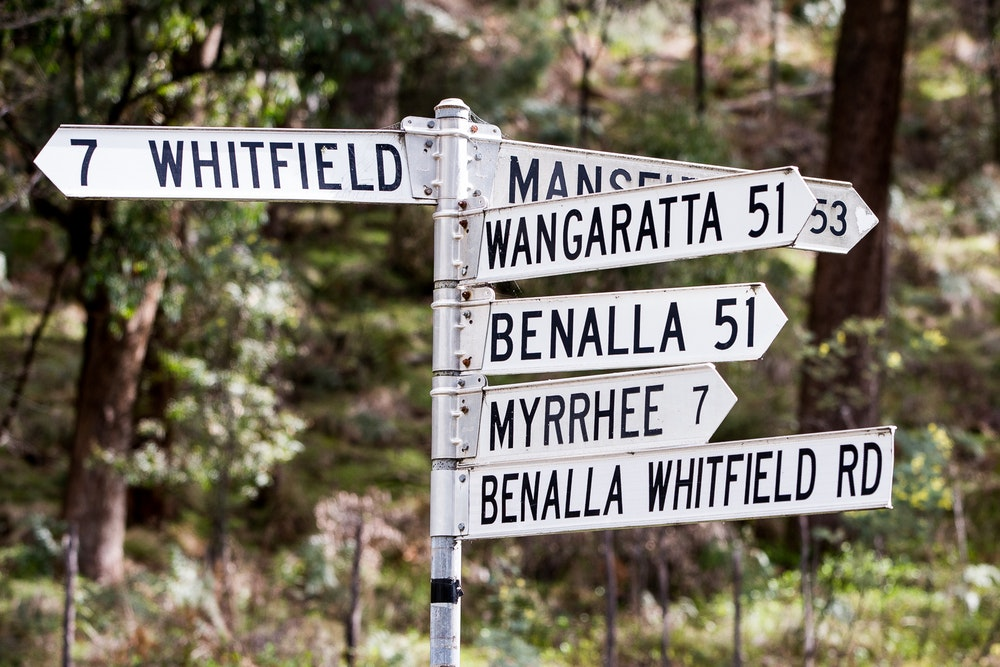 sign post riding in the king valley