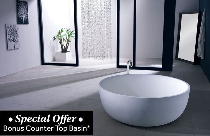 Esther freestanding bathtub freestanding baths for sale for Bathroom decor osborne park