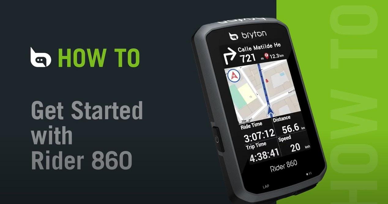 Bryton - Rider 860   Get Started With Rider 860
