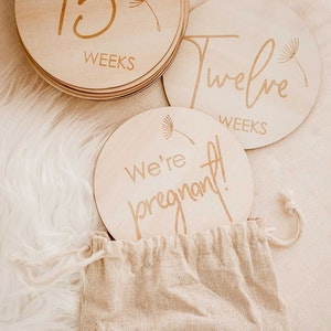 Marli & Me™ Wooden Pregnancy Milestone Discs | Set of 15