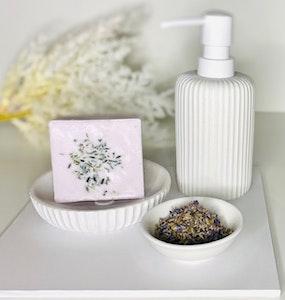 Soul Aware Botanics Homegrown Lavender Buds + Essential Oil Goats Milk Soap 2021