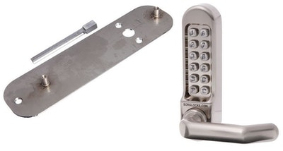 Borg Locks BORG 5000 stainless steel digital code pad with adaptor kit to suit a Lockwood 3572 mortice lock or similar
