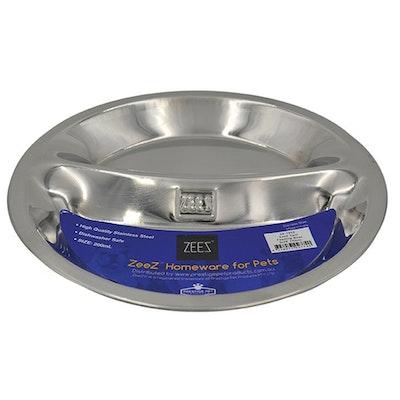 Zeez Stainless Steel Twin Feeding Pet Bowls 200ml