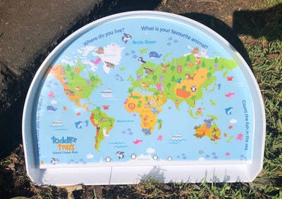 BibiLand Animals of the World BibiKids Non Slip Interactive Toddler Tray