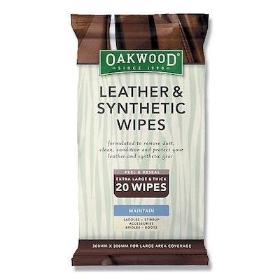 Oakwood Leather Wipes 20 Wipes