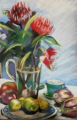 Virginia Bucknell Artworks QualityPrint of the iconic Australian Waratah flower