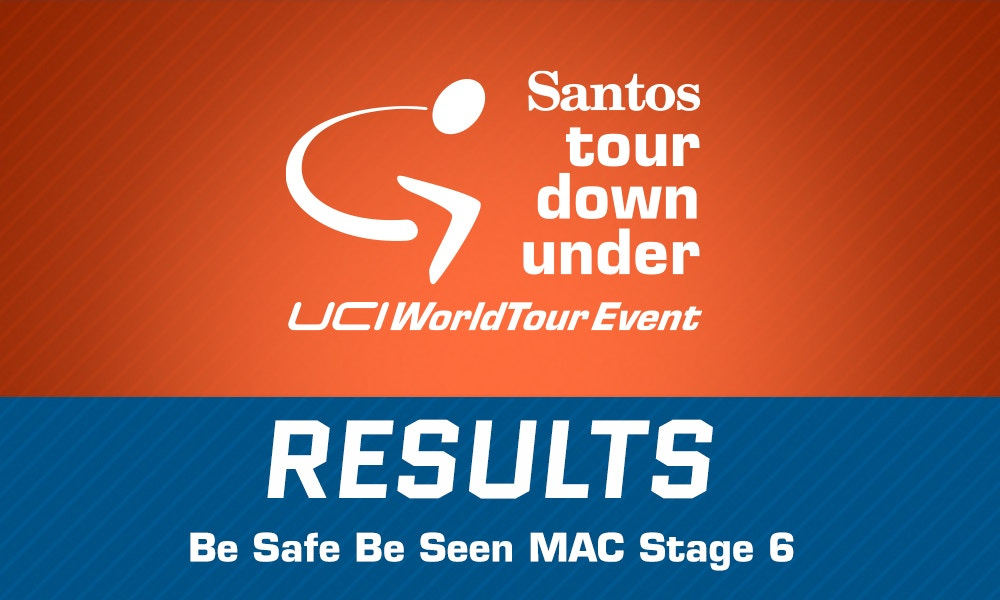 Be Safe Be Seen MAC Stage 6 Results