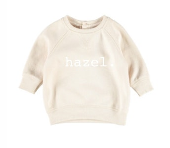 Personalised Name Jumper - Beige