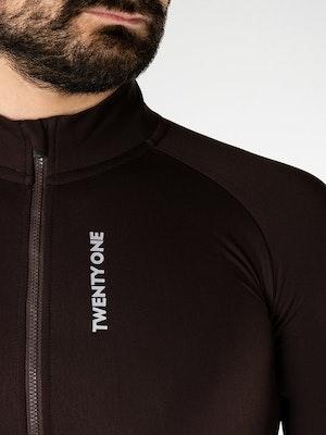 Twenty One Cycling Factory Thermal Jersey 2.0 - SaddleBrown - Men