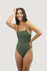1 People Byron Bay One-Piece Swimsuit in Seaweed Green