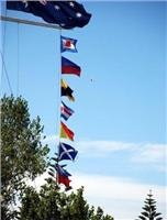 Bass Strait Maritime Centre signal flags say welcome.