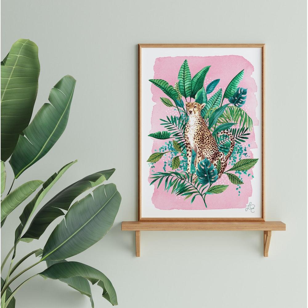 Laura Elizabeth Illustrations Cheetah Fine Art Print