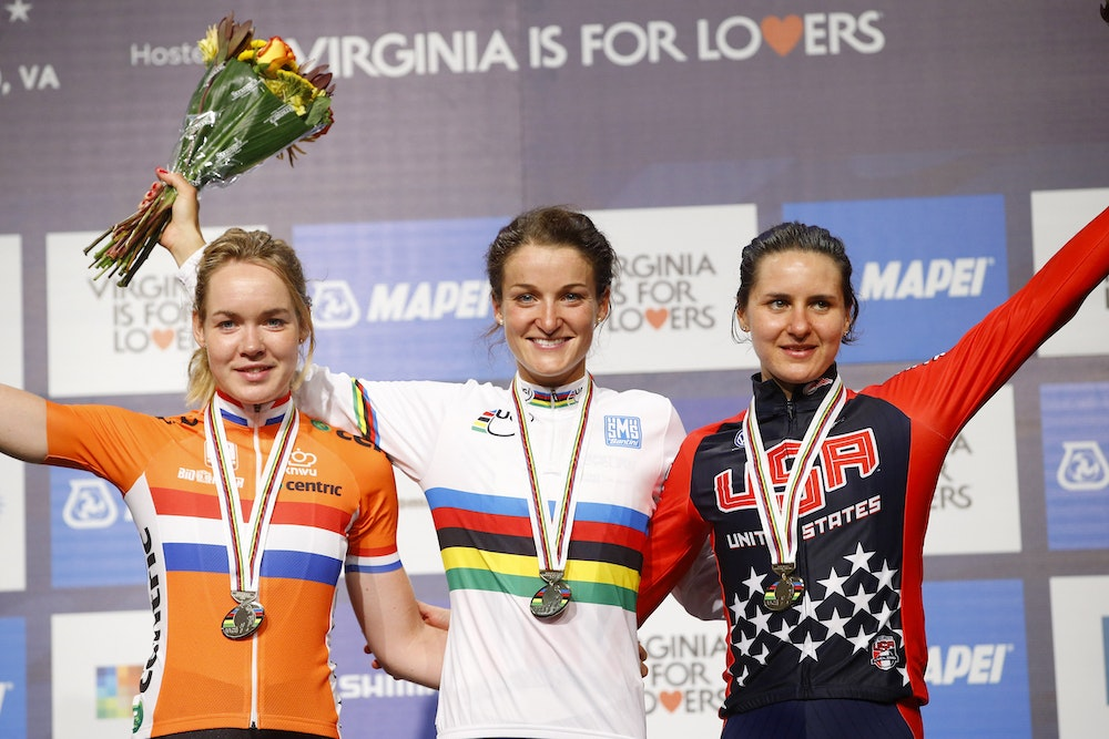 Lizzie armistead wins women s world champ road race