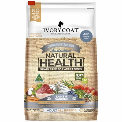 IVORY COAT Grain Free Adult Lamb & Sardine Dry Dog Food