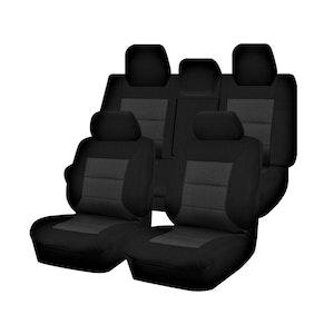Premium Car Seat Covers For Toyota Camry Asv70R/Gsv70R Series 2018-2020 Sedan   Black