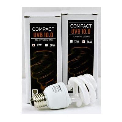 VG Compact UVB 10.0 Heat Lamp Reptile Heat Spiral E27 - 2 Sizes