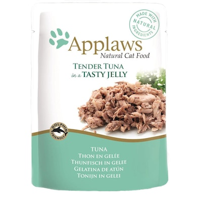 Applaws Natural Cat Food Tuna In Jelly Pouch 70g 16 Pack