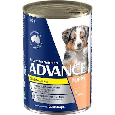 Advance Wet Puppy Food Chicken And Rice 410g