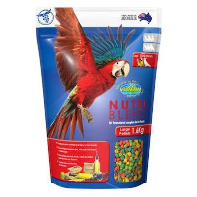 Vetafarm Nutriblend Pellets for Large Exotic Parrots Bird Food - 2 Sizes