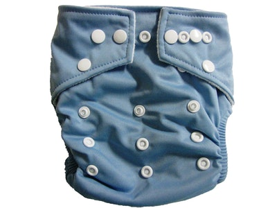 Hippybottomus Stay Dry Bamboo Cloth Nappy - Blue