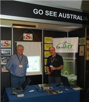 GoSeeAustralia team Alan and Graham show the Caravan industy the latest developments on GoSeeAustralia