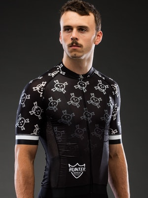 Hunter Bros Cycling Death Awaits Fade Short Sleeve Jersey