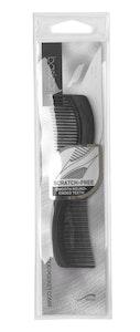 Basic Care Duo Pocket Hair Comb Black 12.8cm