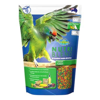 Vetafarm Nutriblend Small Pellets Bird Food For Pet Bird Parrots - 3 Sizes