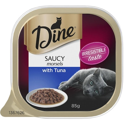 Dine Morsels with Saucy Tuna Cat Food 85g x 14